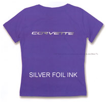 Corvette Stingray Dimensions on You Are Here  Home   Products   Ladies Corvette T Shirts     Purple