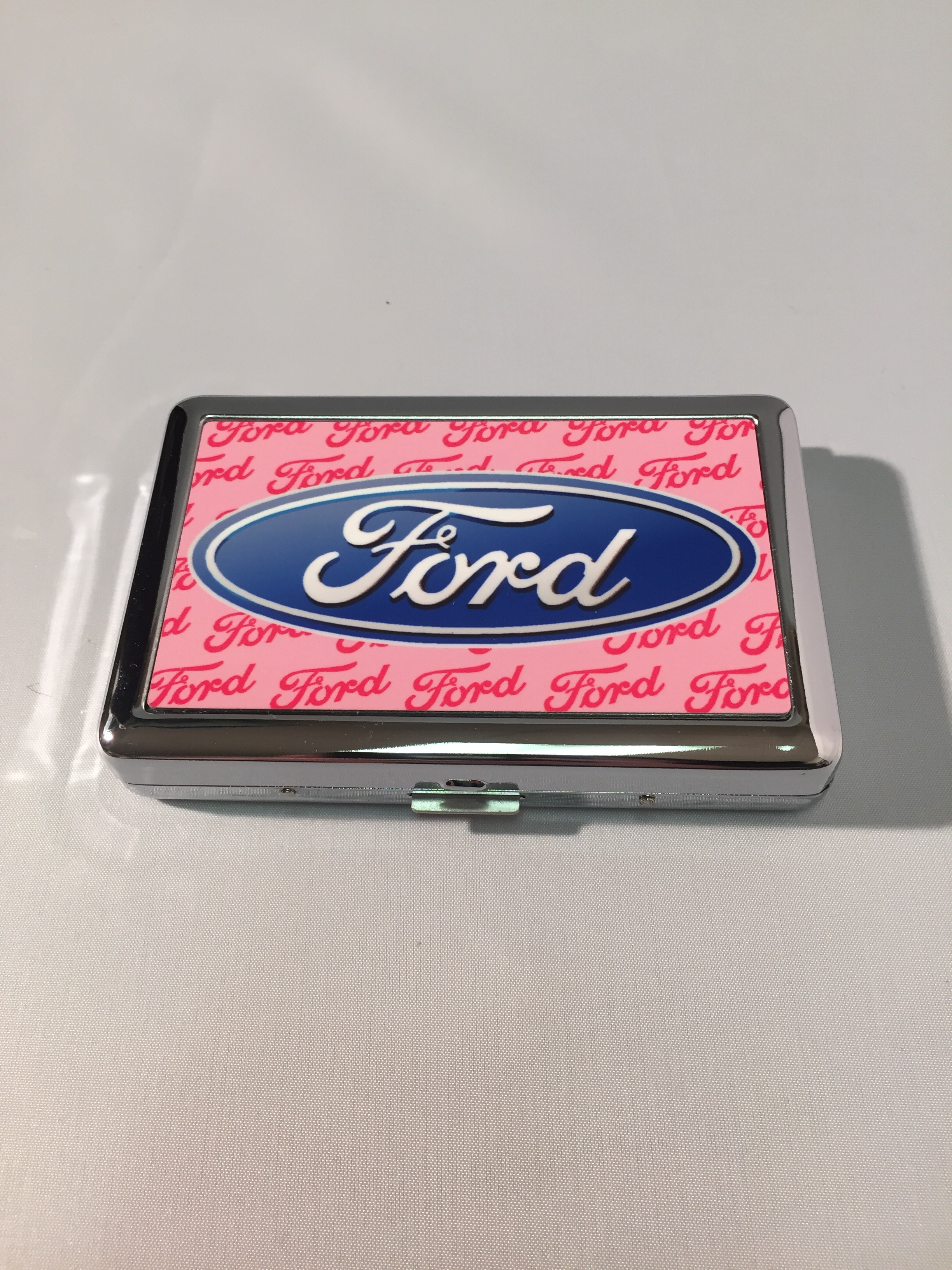 pink ford business card holder everything carz