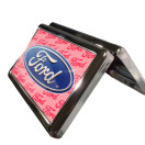 Pink Ford Business Card Holder side view